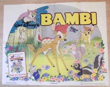 Bambi, Original UK Quad Poster, Walt Disney Animation, '85